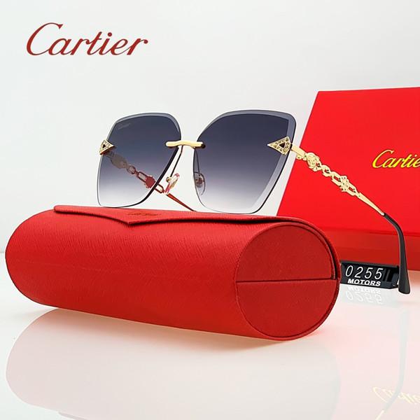 kadın açık havada için Yeni Marka Tasarımcılar Kadın Erkek Carfier Güneş Moda Bayan Lüks Güneş Güneş kutunun 2020 ile gözlük UV400