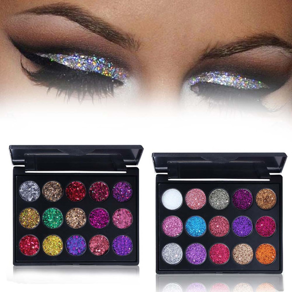 2018 Fashion eyeshadow palette15Colors Matte EyeShadow naked palette Glitter eye shadow MakeUp Nude MakeUp set Korea Cosmetics