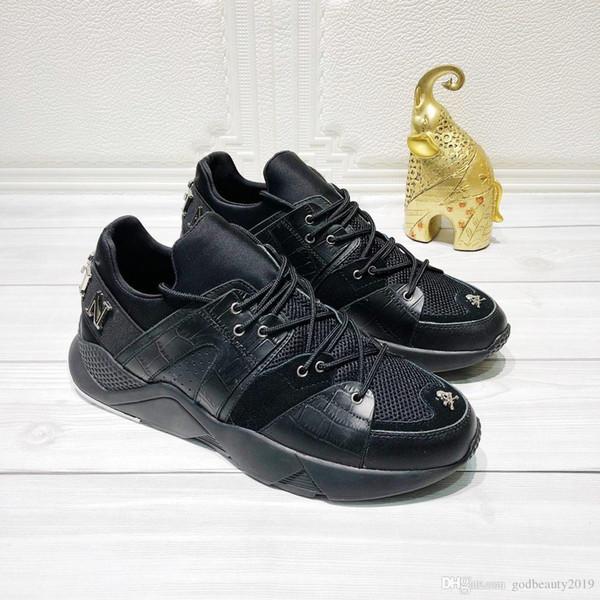 Eu38-Eu45 erkek lüks tasarımcı marka Hakiki Deri pp p71 Kaya Adam ayakkabı sandalet sneakers pphilipppplein