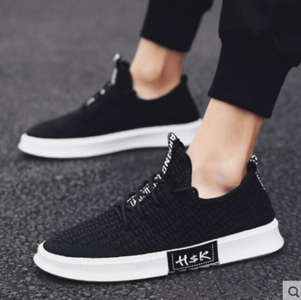 New flying fabric casual shoes, breathable canvas shoes men's fashion shoes, high quality stretch socks for men and women shoes 39W53