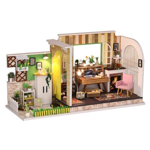DIY 3D Handmade Miniature Dollhouse Doll Dog house Kids Birthday Gift Handcraft