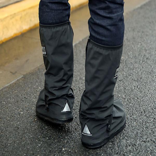 Fahrradschuhe Abdeckung Wasserdicht Winddicht Regen Stiefel Schwarz Wiederverwendbare Überschuhe für Männer Frauen Bike Überschuhe Boot Schuh
