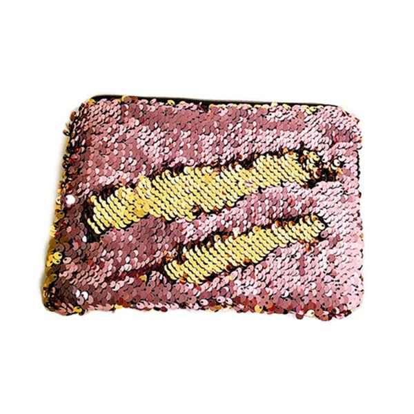 Повседневный стиль горячий продавая женщин Mermaid пришивания Блеск Cosmetic Bag Pencil Box Тип Макияж Дело Блестки Полиэстер Сумки