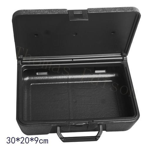 аппаратура чемодана упаковки инструмента оборудования и пластиковая коробка черного ящика оборудования метра большая