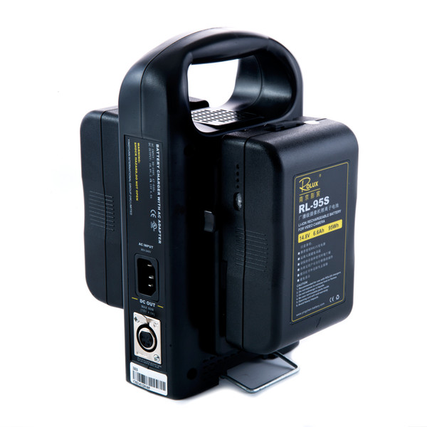 Freeshipping 2 x Câmera Li-ion Battery 95 Wh 14.8 V + Dupla fonte de Alimentação Carregador para DSLR Camera Sony V-mount V Lock