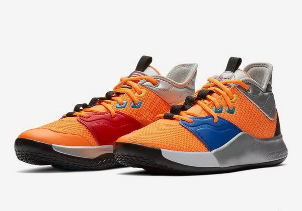 Top Quality PG 3 NASA shoes for sales free shipping 2019 Paul George Basketball shoe store With Box CI2666-800 US7-US12