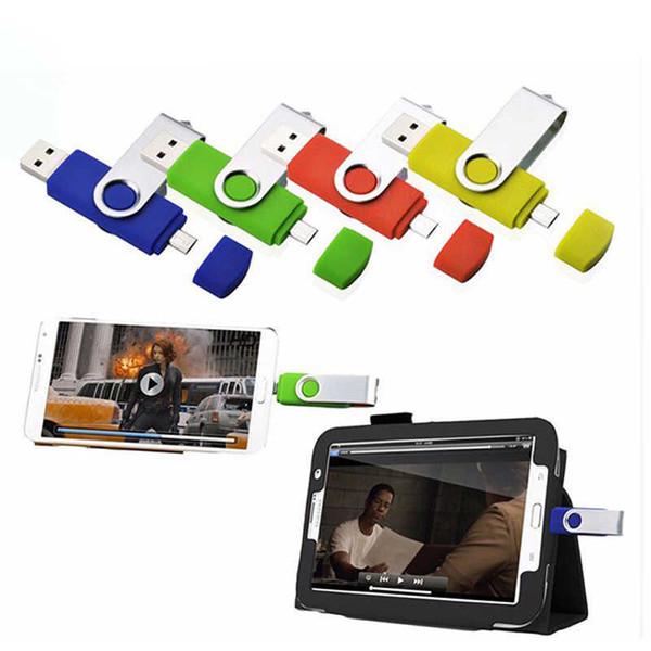 Fashion Capacidade Total Otg Flash Pen Drive 64 32 8 16 Gb Dupla Externa Do Smartphone Stick Usb Pendrive