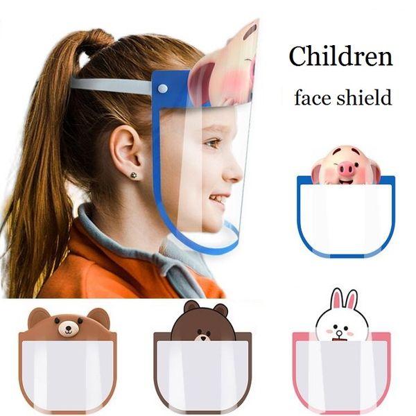 best selling Designer Masks Children Cartoon Face Shield PET Anti-fog Mask Prevent Full Protective Mask Party Mask Kid Gifts