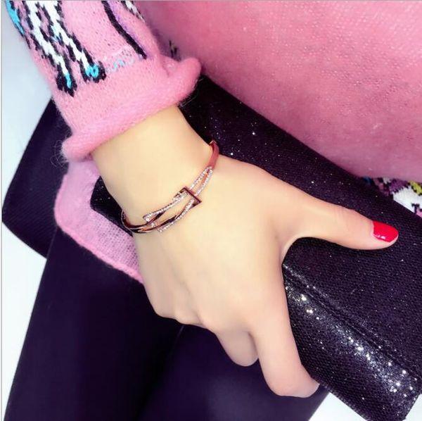 L'Europa e gli Stati Uniti geometria del ventilatore braccialetto grafico semplice braccialetto di studente selvaggio coreano moda braccialetto coreano femminile gioielli