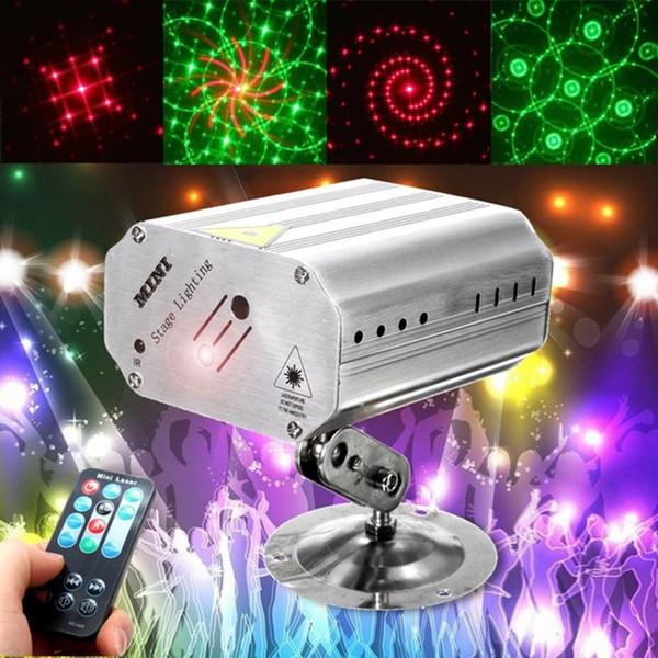 Controllo vocale Musica Rhythm Flash Light LED Proiettore laser Stage DJ Disco Light Club Dancing Party Luci Illuminazione scenica