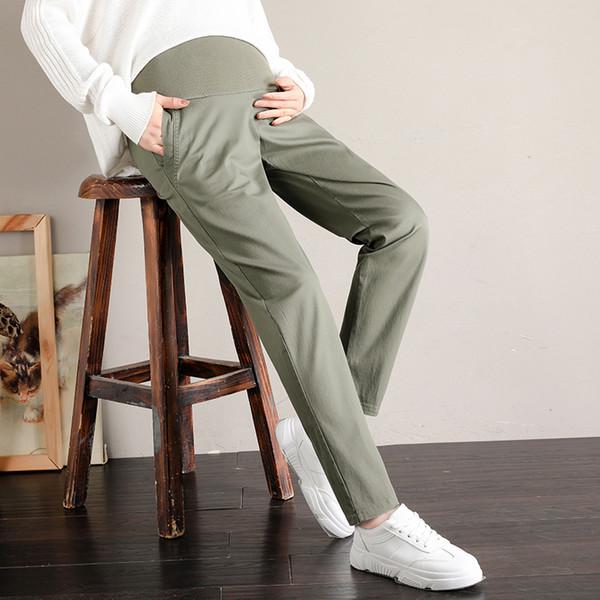 2019 Herbst Mode Mutterschaft Pluderhosen Elastische Taille Bauch Hosen Kleidung für Schwangere Herbst Casual Schwangerschaft