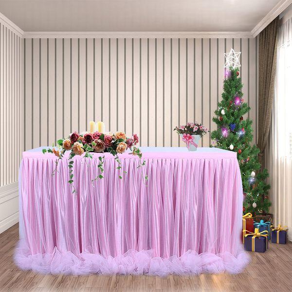 Großhandel 3 Stücke Tüll Tisch Rock Tischdecke Party Hochzeit Dekoration Diy Geschirr Röcke Tutu Hochzeit Geburtstag Party Heimtextilien Von