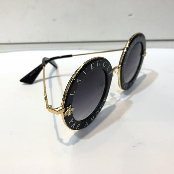 Gucci GG0113S Nuevas mujeres Gafas de sol de diseñador Fasion con montura de mariposa Gafas de sol con un pequeño diamante Diseño Verano Estilo simple Protección UV400