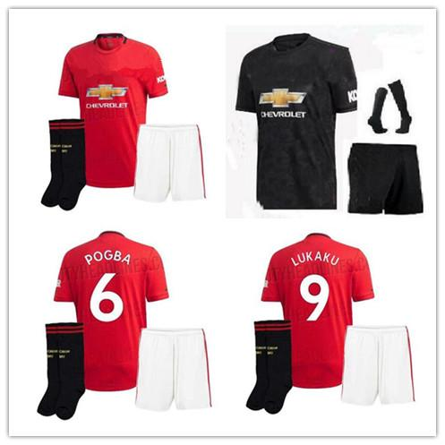 New 2019 Manchester Home red away soccer Jersey young kit 19 20 United POGBA ALEXIS MATA LUKAKU FRED RASHFORD Matic Football shirt kits