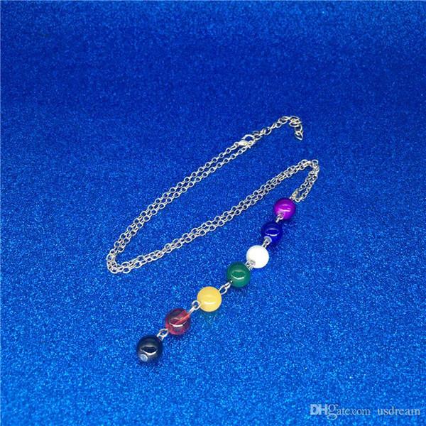 7 Yoga Chakra Stone Beads Colar Pingente de Yoga Reiki Cura Balanceamento Colares para As Mulheres Moda Jóias Will and Sandy 2020 venda quente