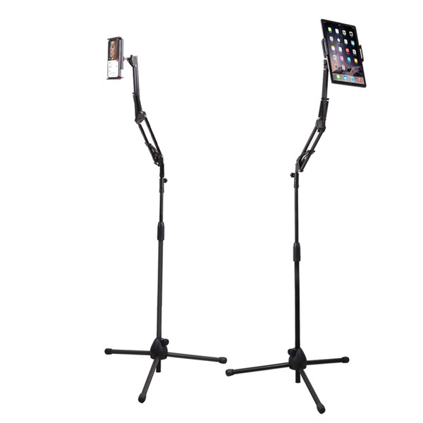 Height Adjustable Tablet Floor Mount Holder Lazy Mobile Stand Phone Holder Long Arm for Bed Sofa Office