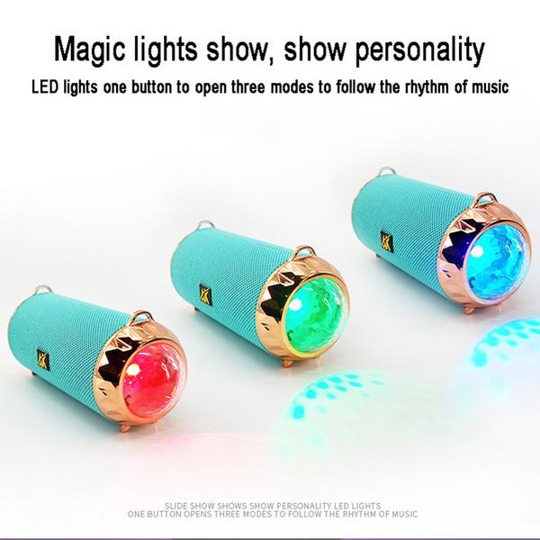 portable wireless speaker Outdoor bluetooth speaker with color light Support TF USB Card FM flashlight Speakers PK jbl TG116 TG117 TG113 V8