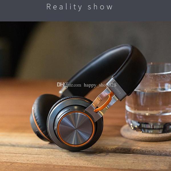 perakende kutusu ile Cep telefonu Laptop için Mikrofon Kulak üstü Müzik Kulaklık ile Remax 195HB Kablosuz Kulaklık Stereo Bluetooth 4.1 Kulaklık
