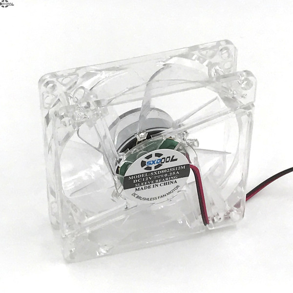 pc computer 80mm cooling fan with 4ea led 8025 8cm silent DC 12V LED luminous chassis molex 4D plug axial fan