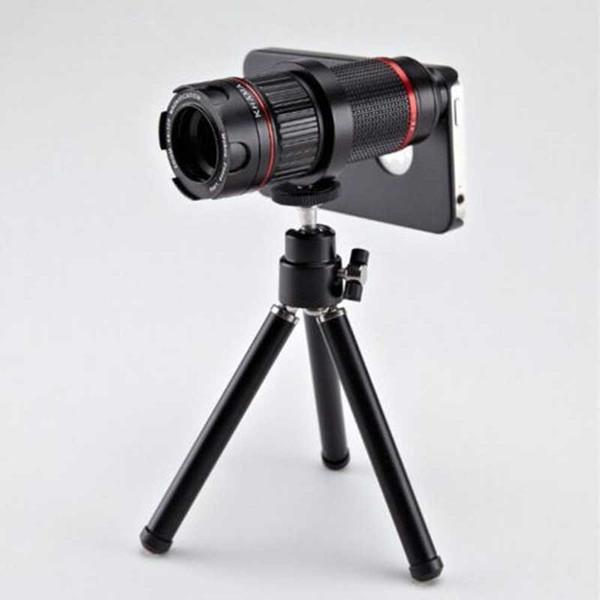 4-12x Zoom ottico regolabile Telescopio SLR Camere Telefono teleobiettivo Custodia per Samsung Galaxy S8 S8 Plus Bordo S7 S7 Nota 4 5