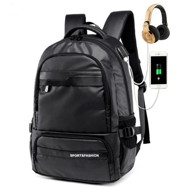 Men's Backpack USB Charging Port Shoulder Student Bag Men's Fashion Oxford Travel Bag Youth Backpack Multifunction Sport Bag
