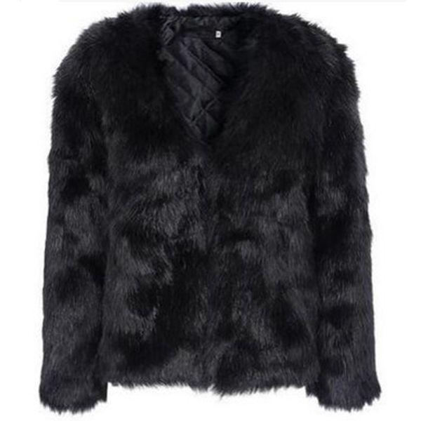 Новый Осень Зима пальто куртка искусственный мех пальто женщины пушистый теплый с длинным рукавом верхняя одежда мода волосатые пальто плюс размер 3XL
