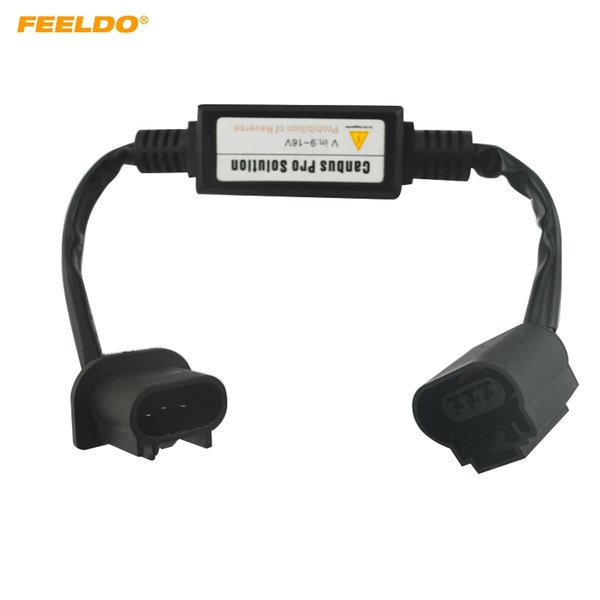 FEELDO 12V Car HID Xenon Warning Canceller Error Free Decoder for H13 High Low Beam HID Xenon Headlight #4302