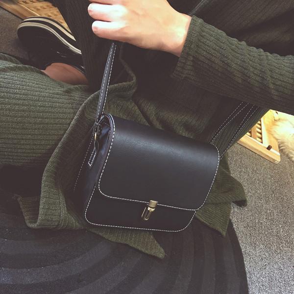 Shell Mujeres bolsas de mensajero bolsos crossbody Satchel pequeño cuadrado de cuero y Mini femenino del bolso de hombro del paquete del teléfono móvil Bolsa