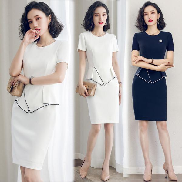 Fashion summer Pencil Vestidos Retro Robe Work Wear Uniform Women elegant Office Ladies Slim Dress Korean style Vestidos Mujer