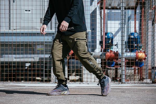 TKPA Мужские дизайнерские брюки-карго Свободные свободные брюки для скейтборда Pantalones Multi Pockets