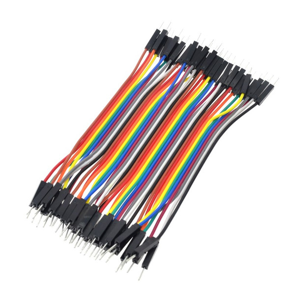 top popular 40pcs 10cm 2.54mm 1pin 1p-1p male to female jumper wire Dupont cable for arduino 2021