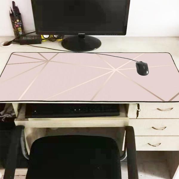 Mairuige marbre rose d'ordinateur portable de jeu Souris Grand verrouillage bord Tapis De Souris Grande taille en caoutchouc Mouse Game Pad de luxe unique de conception tapis de souris