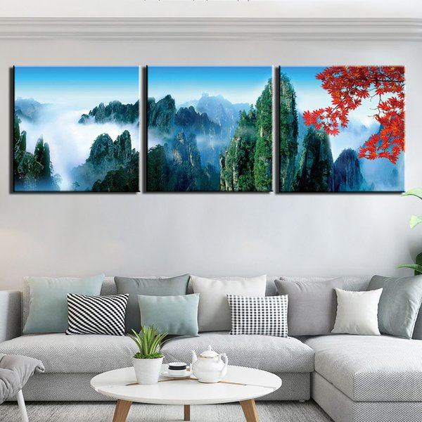 2019 Wall Art Canvas Painting Prints And Posters Home Decor Artwork  Abstract Mountain Scenery Wall Pictures For Living Room From Jonemark2014,  $23.92 ...