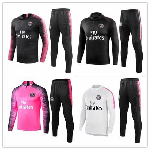 1c969912b 2018 19NEYMAR JR TRACKSUIT DI MARIA CAVANI mbappe PSG training suit soccer  Jerseys kit 18 19 VERRATT paris football jacket tracksuit S-3XL
