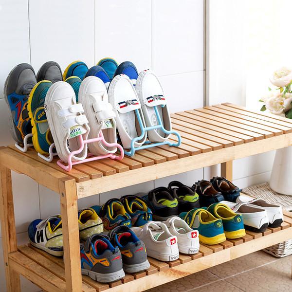 10pcs/set Multi-function Shelf Drying Shoe Rack Stand Hanger Children Kids Shoes Hanging Storage Wardrobe Organizer Q190605