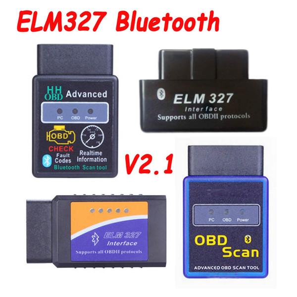 2019 Newest ELM327 ELM 327 V2.1 Car Code Scanner Tool Bluetooth Super MINI ELM327 OBD2 Suppot OBD2 Protocol More Types Option