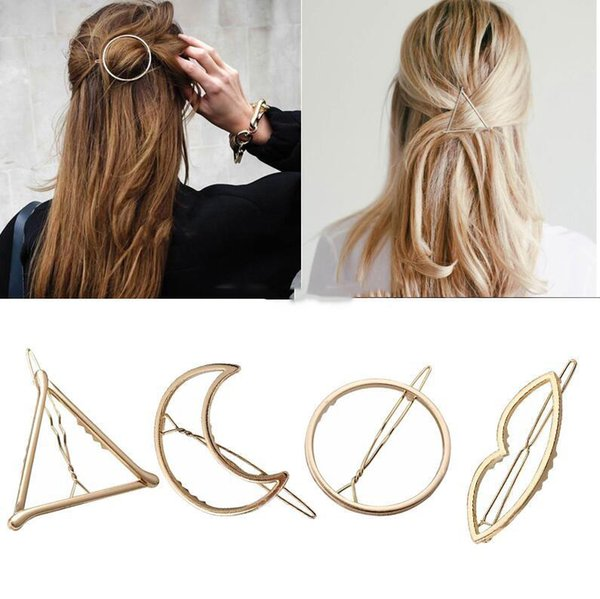 Fashion Geometric Lip Stars Moon Barrettes Clips for Women Hair Side Bobby Pins Ponytail Hairpins Girls Metal Hairclips Hair Accessories