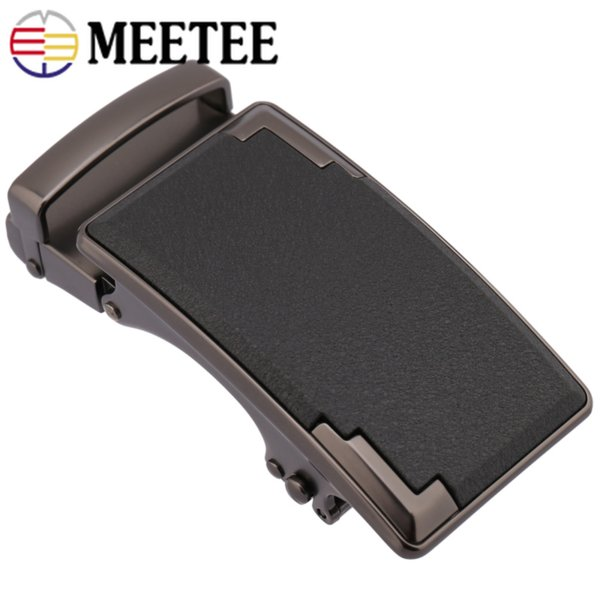 Meetee 2PC 36mm Business Men Belt Buckle Metal For 34-35mm DIY Craft Clothing Decoration Accessories BD406