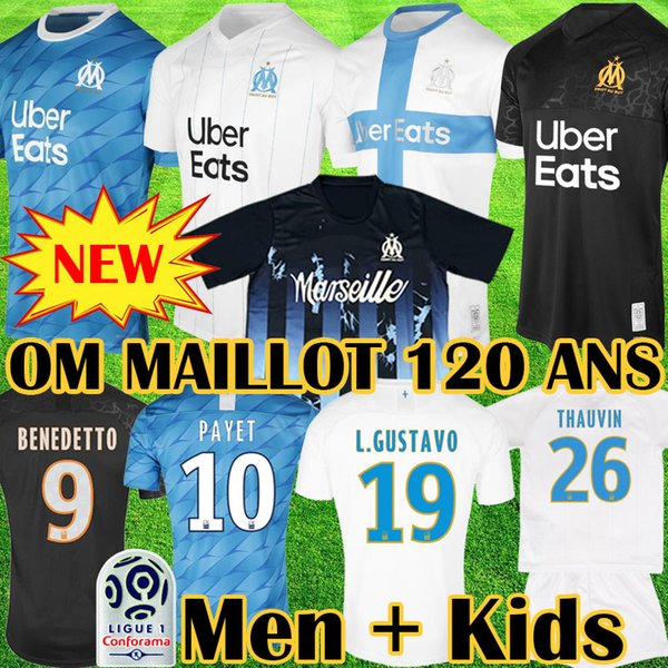 Maillot OM COLLECTOR 2019 2020 MAILLOT 120 ANS DISPONIBLE Marseille Olympique enfants Marseille Maillot de foot Maillot BENEDETTO PAYET L GUSTAVO 19 20 Marseille THAUVIN Équipement