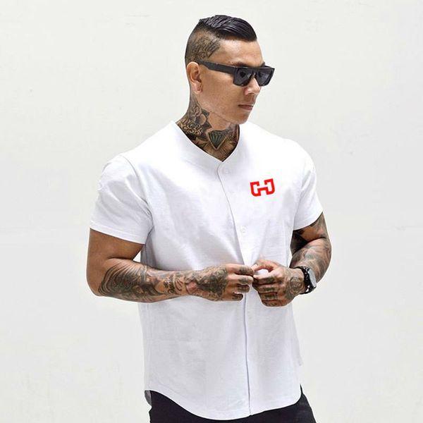 Мужская бейсбольная трикотажная футболка с коротким рукавом с коротким рукавом и спортивной одеждой Q190518