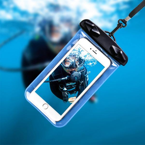 Новый Тип Прибытия Водонепроницаемый Мешок Мобильного Телефона Мешок / Рафтинг Водные Виды Спорта Плавание Существенный Легкий Портативный