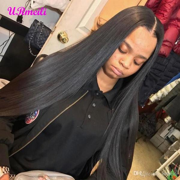360 de encaje completa pelucas del pelo humano peluca de cabello humano virginal brasileño Perruques de cheveux humains DHGATE 360 pelucas de pelo humano para las mujeres negras