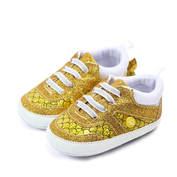 Baby Shoes Fish Tail Cute Sequins Baby Girl Shoes Princess Shoes Soft Bottom First Walker Prewalkers