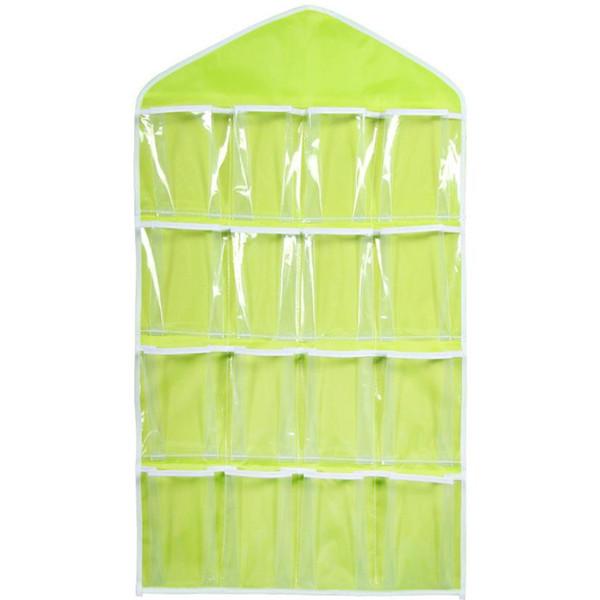 16 Pockets 78*42cm Household Clear Hanging Bag Socks Bra Underwear Rack Hanger Storage Organizer Wardrobe New wh0565