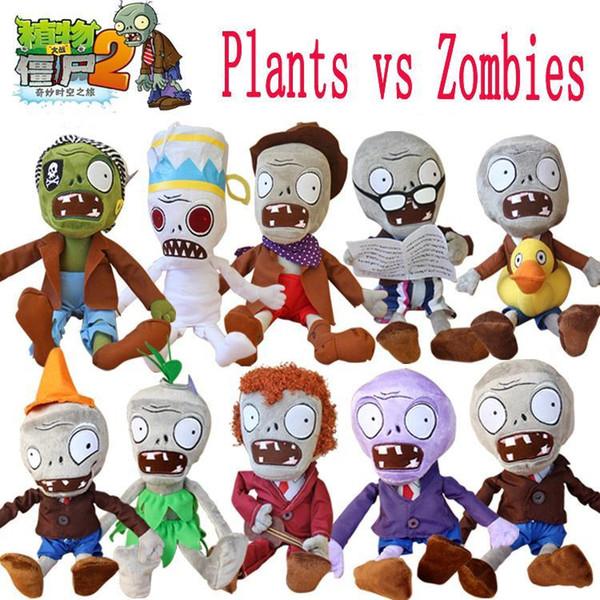 Hot 30cm Plants vs Zombies Plush Toys Kawaii Plush Plants vs Zombie Stuffed Toys Doll Children Kids Toys Birthday Gift