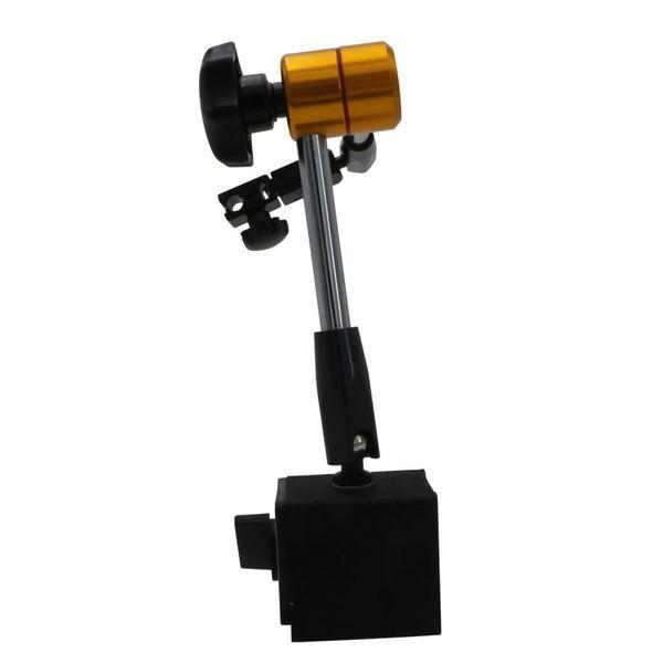 top popular Freeshipping 1pcs Magnetic Stand For Digital Dial Indicator Gauge 3 Joints Full Adjustable Dial Gauge Magnetic Base Stand Holder 2021