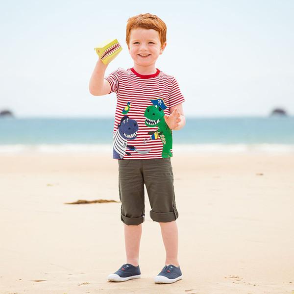 Camiseta para niños 2018 Nueva marca, modelo animal, estilo Sunmmer Camiseta de manga corta para niños por 18 meses-6 años