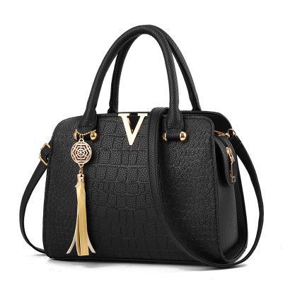 5 color de cuero de cocodrilo bolso de las mujeres V Cartas bolsos de diseño de calidad de lujo de la señora Hombro Crossbody Bolsas con flecos mujeres Messenger Bag