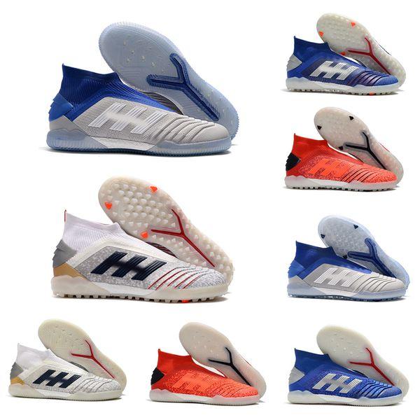 Chuteiras de futebol Predator 19 Em IC Indoor Soccer Shoes Predator 19 Tf Football Boots Men Shoes