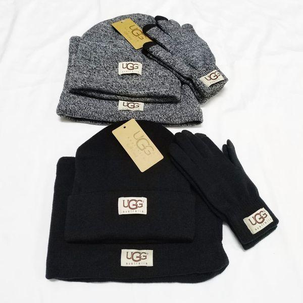 Unisex Sciarpa Glove Set causali invernali maglia Beanie Cappelli Uomini Ourdoor guanti caldi Donna Classic Inverno Sciarpa TTA